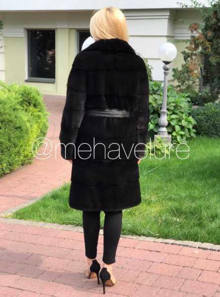 Шуба норковая черная