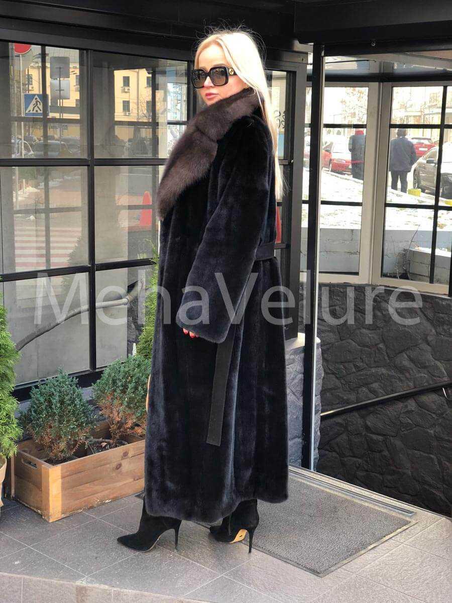 Норковая шуба халат Blackglama